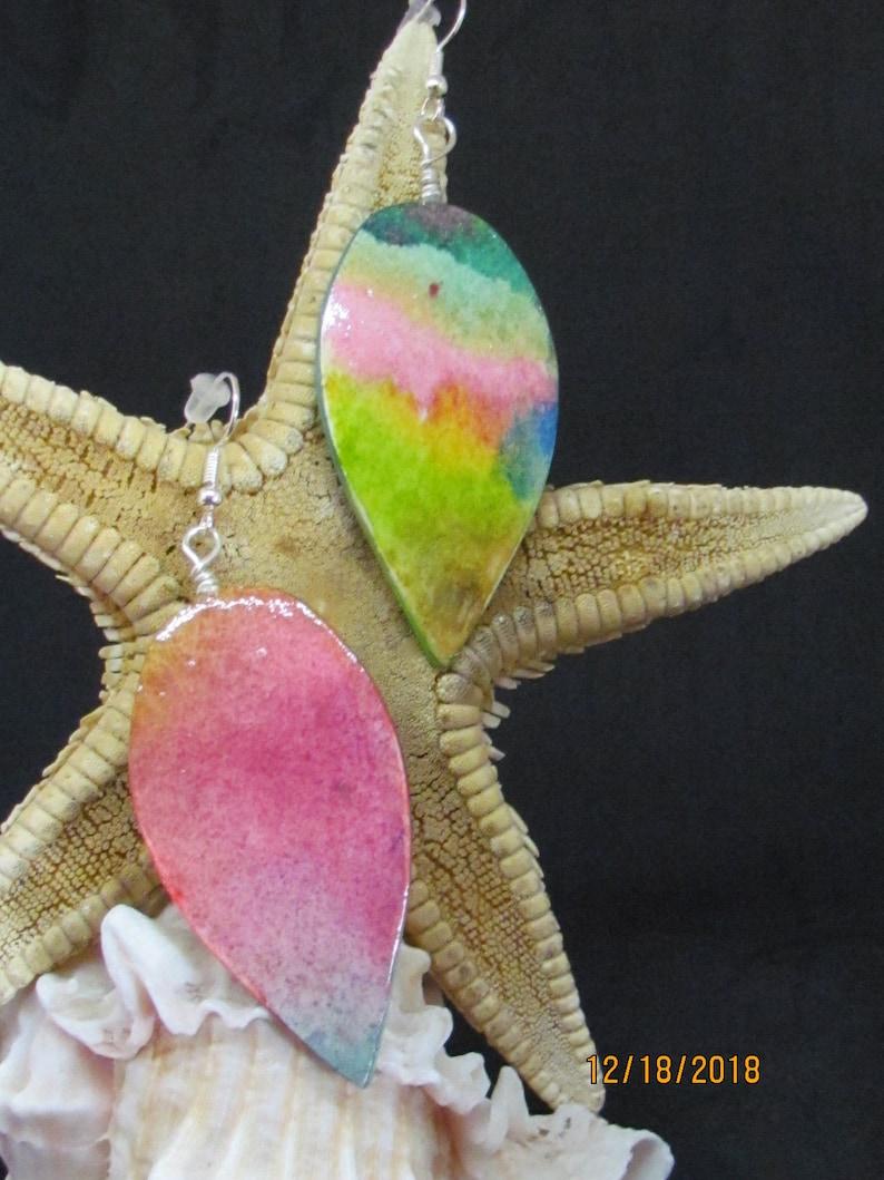 Hand-Painted Water Color Earrings