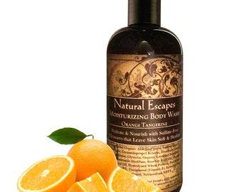 Orange Tangerine Moisturizing Body Wash, Organic Body wash, all natural body wash, sulfate free body wash, gentle body wash for dry skin