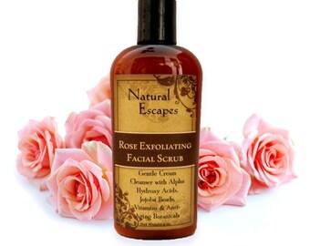 Exfoliating Face Scrub, organic face scrub, natural face scrub, moisturizing face cleanser, gentle face cleanser, face wash, face polish