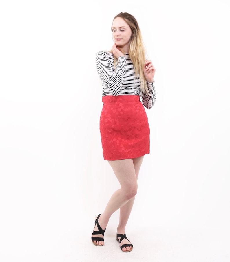 debf0c462090 Hot pink fuchsia pencil mini skirt short skirt vintage | Etsy