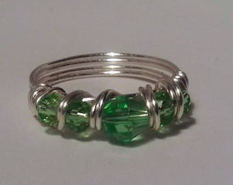 Swarvoski Crystal and Silver Plate Ring