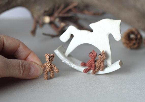 Häkeln Bär Puppenhaus Miniatur Spielzeug 1 Zoll Puppe Kleine Etsy