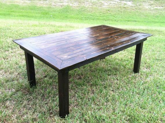 Mesa de comedor madera reciclada hecha a mano   Etsy
