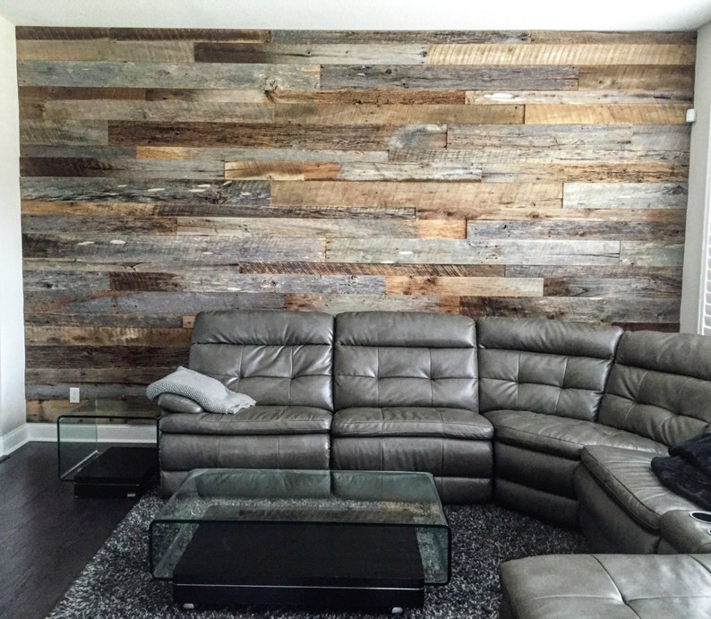 Reclaimed Wood Wall Accent Kits Etsy