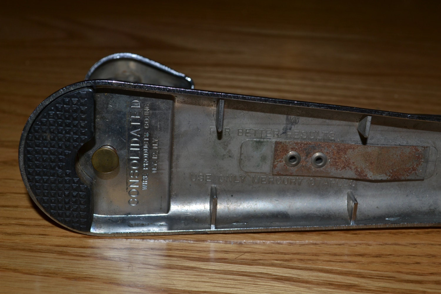 Vintage Consolidated Wire Products Mercury SR Chrome Desk Stapler ...