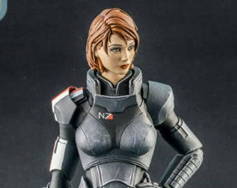 Commander Shepard Female resin figure Mass Effect FemShep 210mm - GIFT FOR GAMER
