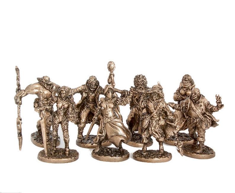 40mm The Black Company brass miniatures set - 8pcs
