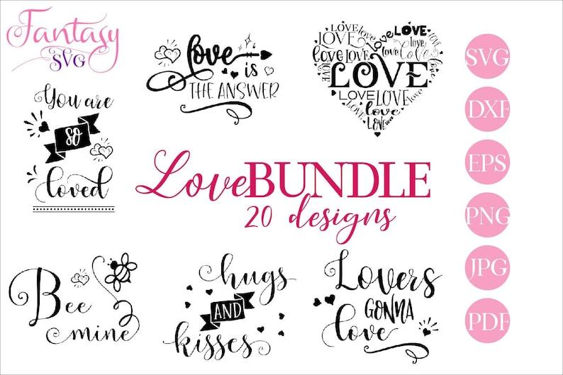 Love Bundle Svg Huge Big Mega Cut Files Cricut Cutting Etsy