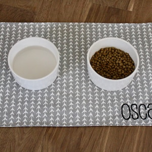 100/% Handmade Custom Pet Mat Personalized Placemat for your dog or cat available in ALL SIZES