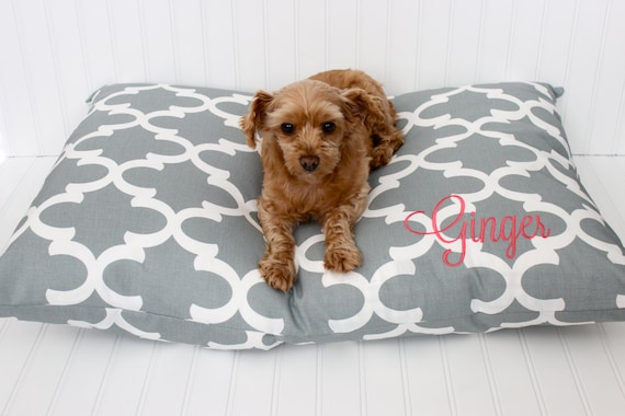 Personalized Dog Pillow Cover Pet Bed