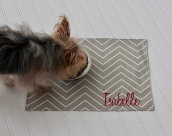 Pet Placemat Personalized - Pet Food Placemat - Custom Placemat - All sizes - Pet Mat - Pet Accessories - Pet Lover Gift