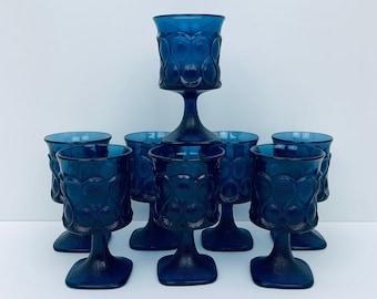 "Vintage Noritake ""Spotlight"" Blue - Water Goblet"
