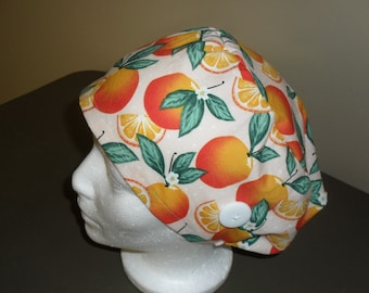 Scrub cap with buttons New Improved Style Greys Anatomy Inspired