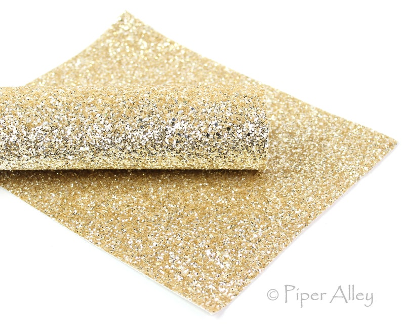 Gold Glitter Canvas Yellow Gold Classic Chunky Glitter Canvas Sheets Gold Chunky Glitter Sheet Yellow Gold Gold Glitter Fabric