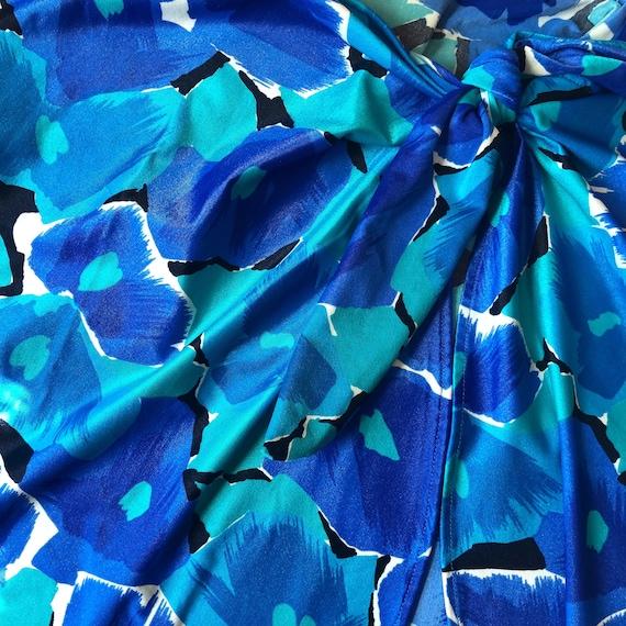 70's vintage nylon spandex floral print beach sar… - image 2