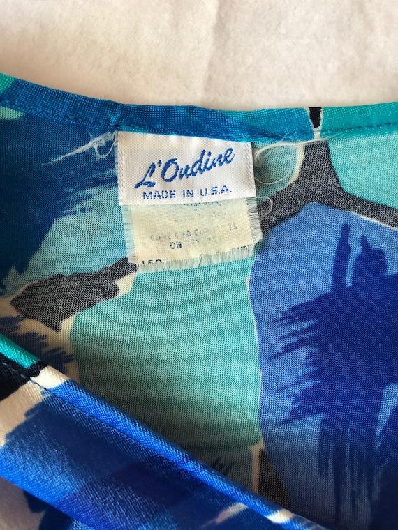 70's vintage nylon spandex floral print beach sar… - image 4
