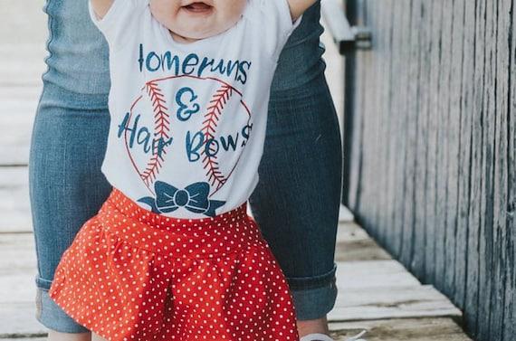 db148534e Baseball Baby HOMERUNS & HAIRBOWS Bodysuit BASEBALL Theme | Etsy