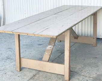 Excellent Old Folding Table Etsy Download Free Architecture Designs Intelgarnamadebymaigaardcom