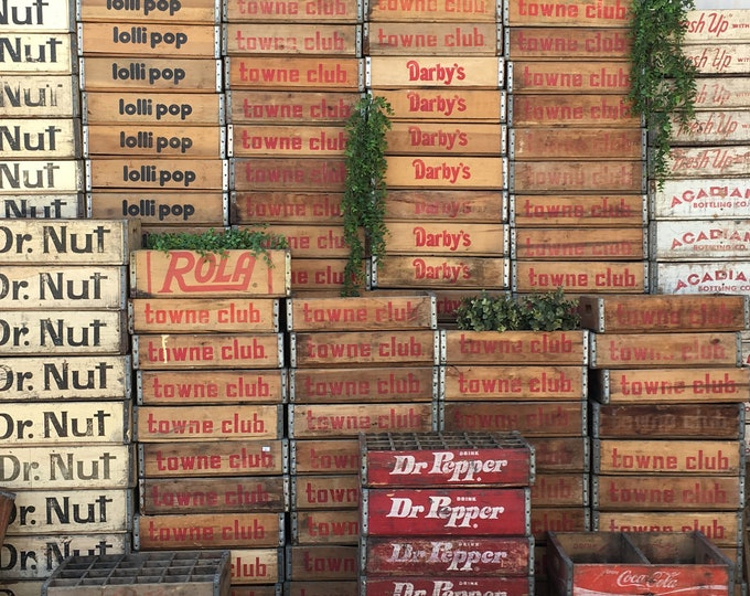 Featured listing image: Vintage Soda Crates of Different Varieties