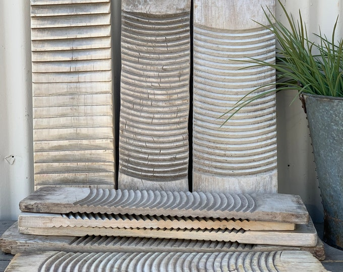 Featured listing image: Vintage Wooden Sun Bleached Washboard (Free Shipping)