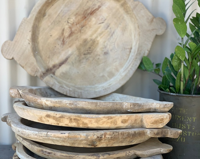 Featured listing image: Large Rustic Wooden Parat Tray