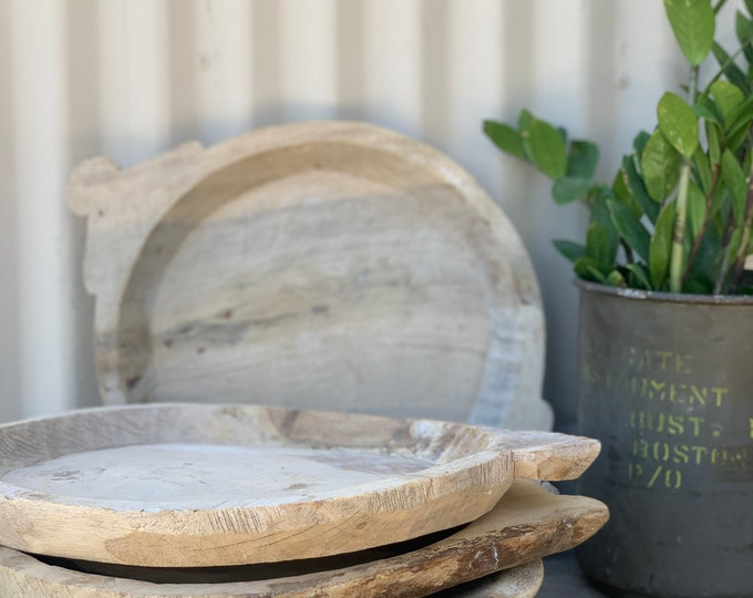 Featured listing image: Medium Size Rustic Wooden Parat Tray