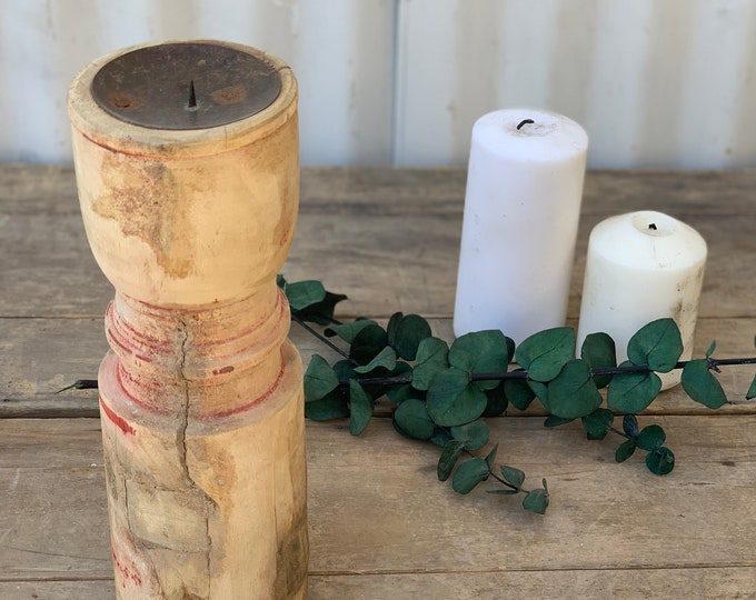 Featured listing image: Rustic Raw Teak Candle Holder