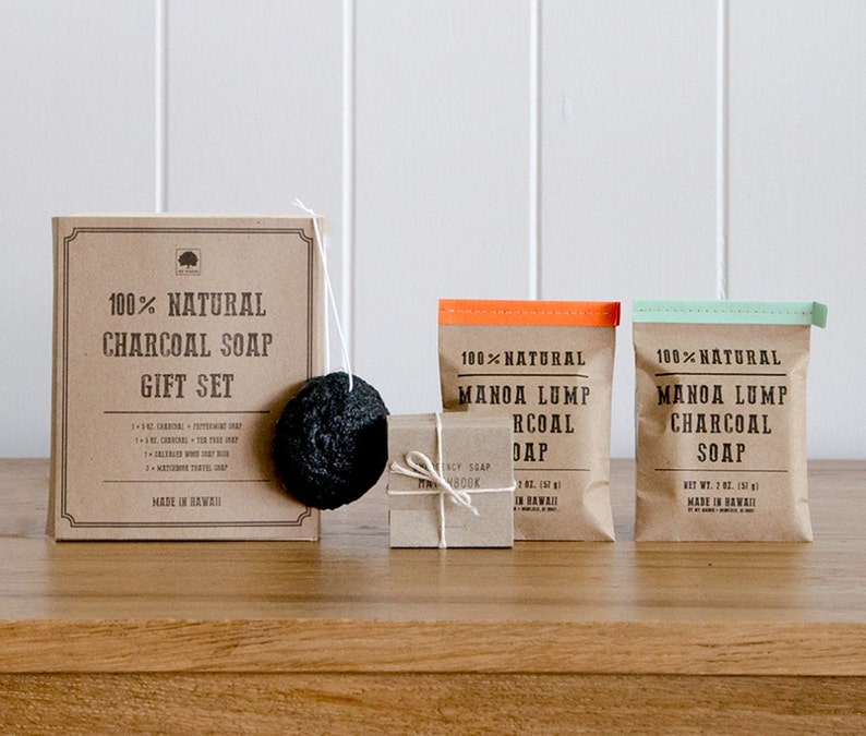 Charcoal Soap Crate Gift Set Gifts For Him Gifts For Her Etsy