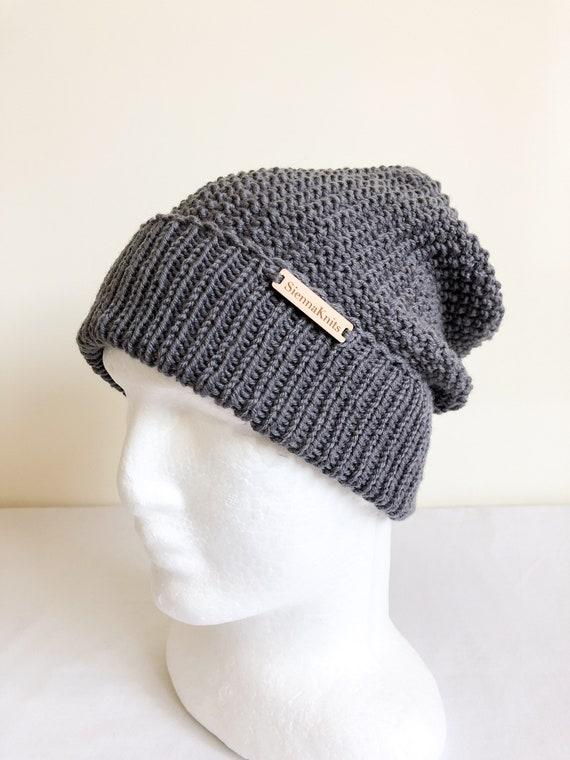 Charcoal womens beanie merino wool knit beanie merino wool eb802c85b78