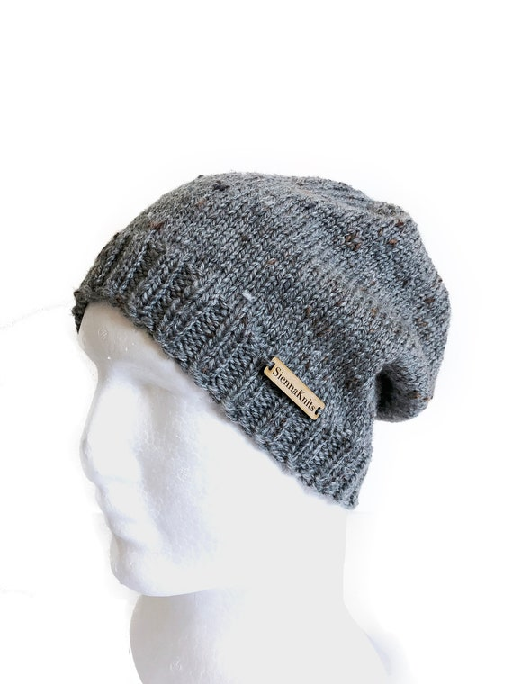 Women grey beanie men grey beanie women grey slouchy men  3dfa2e9dd8e