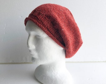 Slouchy women handmade knit wool beanie, birthday gift for women, wool hat, Christmas gifts for wife, girlfriend, sister, mum.