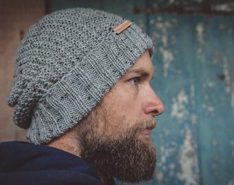 Grey men beanie, grey women beanie, beanies for women, Christmas gift ideas for men, men wool beanie, women wool beanie, mens wool knit hat