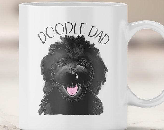 Black Doodle Dad Mug - Goldendoodle Dad - Dog Dad Gift - Father's Day - Labradoodle - Black Doodle Dog - I Love my Dog - Fur Dad
