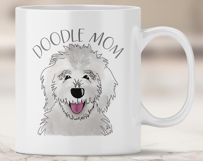 White Doodle Mom Mug - Goldendoodle Mom - Labradoodle - White Labradoodle - Dog Mom Mug - Dog Mom Gift - Fur Mom - Doodle Dog Mom