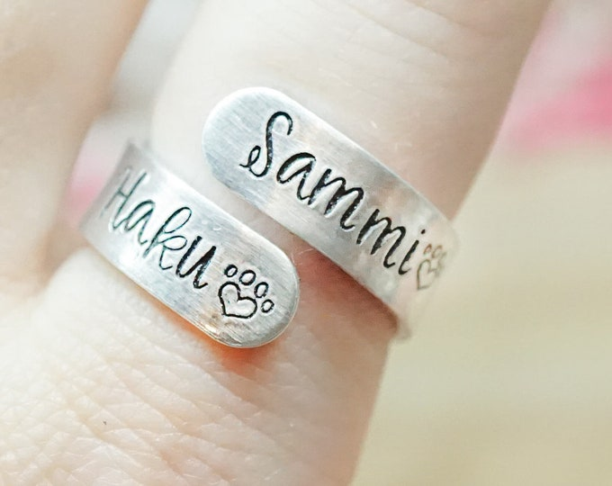Custom Hand Stamped Wrap Ring