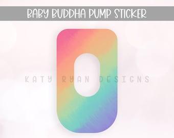 Buddha Pump Sticker - Tie Dye - Multiple Designs Available - Baby Buddha Sticker - Exclusive Pumping Sticker - Baby Buddha Skin