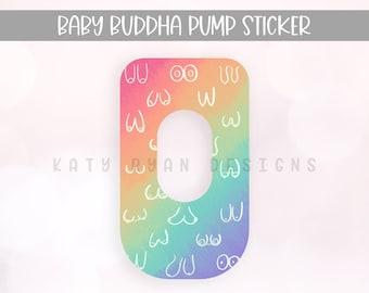 Baby Buddha Pump Sticker - Tie Dye Boob Drawings - Baby Buddha Sticker - Exclusive Pumping Sticker - Baby Buddha Skin