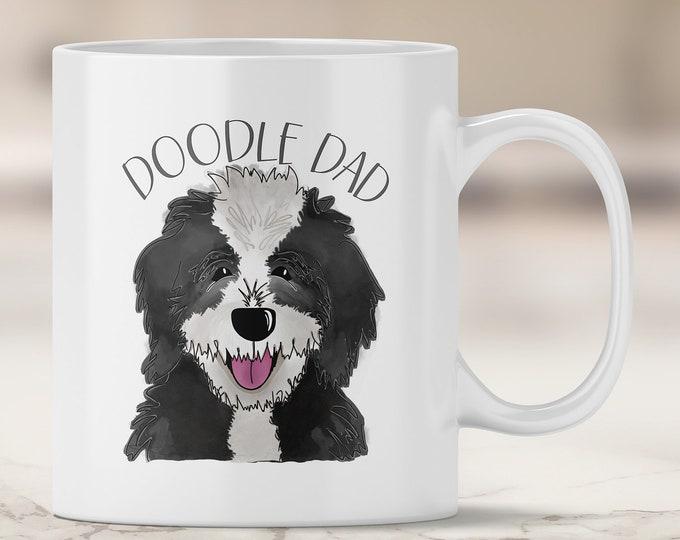 Sheepadoodle Dad Mug - Sheep Dog Doodle - Poodle Mix - Doodle Dog - Doodle Dad - Bernedoodle Mug - Doodle Mug - Dog Mug