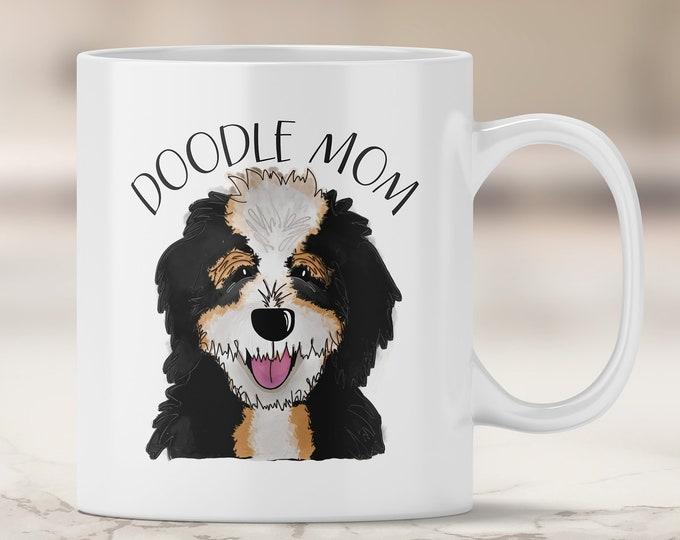 Bernedoodle Mom Mug - Bernese Mountain Dog Doodle - Poodle Mix - Doodle Dog - Doodle Mom - Bernedoodle Mug - Doodle Mug - Dog Mug