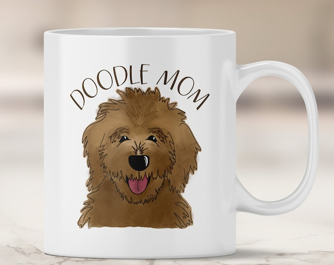Chocolate Doodle Mom Mug - Goldendoodle Mom - Labradoodle - Chocolate Labradoodle - Dog Mom Mug - Dog Mom Gift - Fur Mom - Doodle Dog Mom