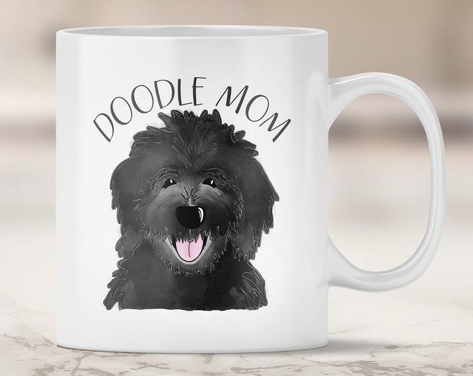 Black Doodle Mom Mug - Goldendoodle Mom - Labradoodle - Black Labradoodle - Dog Mom Mug - Dog Mom Gift - Fur Mom - Doodle Dog Mom