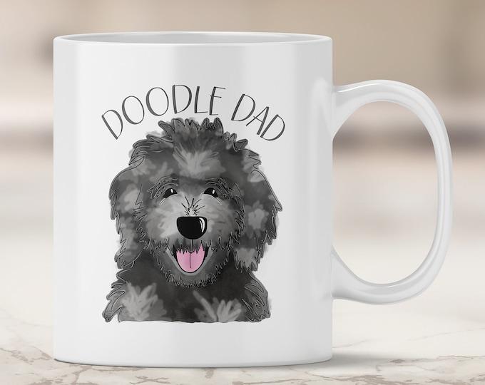 Merle Doodle Dad Mug - Aussie Doodle - Australian Shepherd Doodle Mix - Poodle Mix - Doodle Dog - Doodle Dad Mug - Doodle Mug - Dog Mug