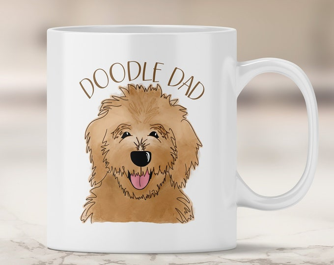 Golden Doodle Dad Mug - Goldendoodle Dad - Dog Dad Gift - Father's Day - Labradoodle - Brown Doodle Dog - I Love my Dog - Fur Dad