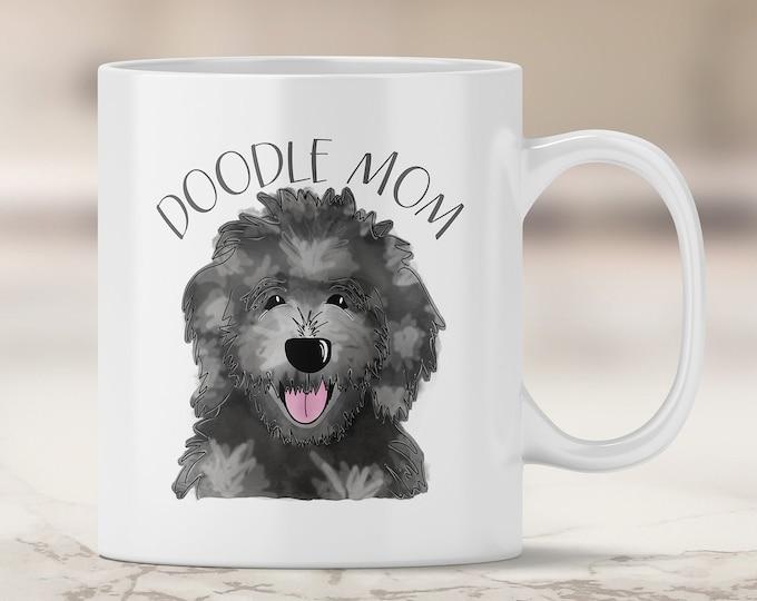 Merle Mom Mug - Aussie Doodle - Poodle Mix - Doodle Dog - Doodle Dad - Australian Shepherd Mix Doodle - Doodle Mug - Dog Mug