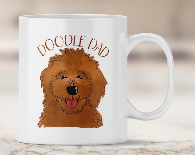 Red Doodle Dad Mug - Red Golden Doodle - Dark Red Doodle - Labradoodle - Chocolate Lab - Labradoodle - Dog Dad - Father's Day