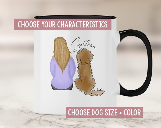 Doodle Mom Mug - Goldendoodle Mom - Labradoodle - Custom Doodle Dog - Dog Mom Mug - Dog Mom Gift - Fur Mom - Girl with Dog Mug