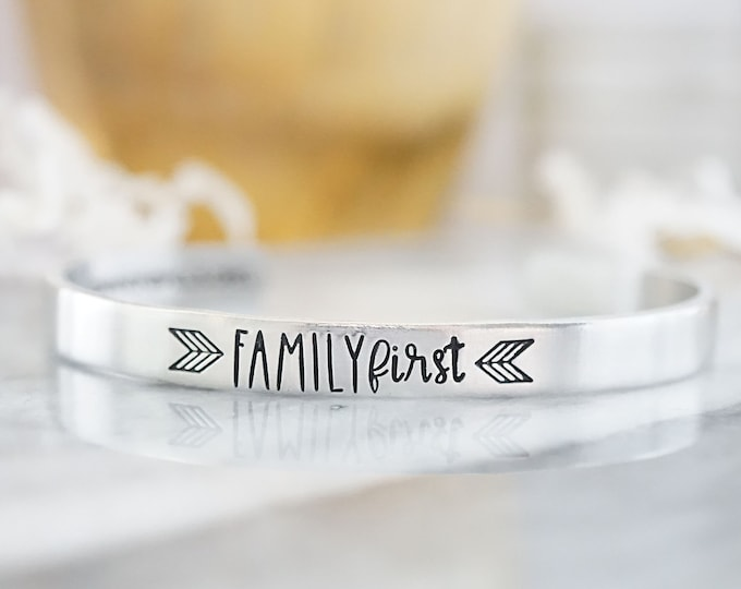 Family First Cuff Bracelet - Cannonballs Collection - Cannonballs for Kayne