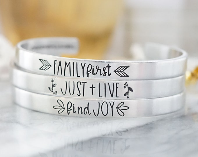 Cannonballs Cuff Set - Family First - Just Live - Find Joy - Cannonballs Collection - Cannonballs for Kayne - Pediatric Brain Cancer - DIPG