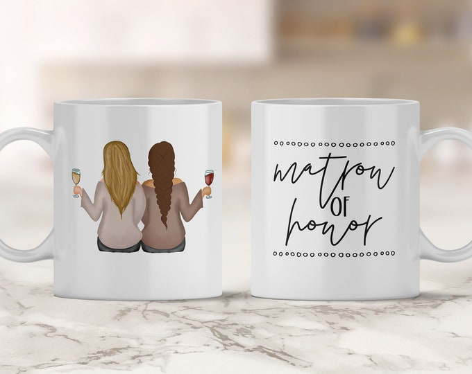 Matron of Honor Mug - Will You Be My Matron of Honor - Bridesmaid Proposal Box - Wedding Party Gift - Matron of Honor Gift - Personalize