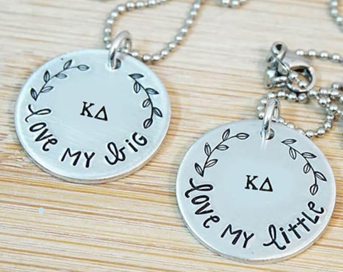 Kappa Delta Big Little Necklace Set - ΚΔ Big Little Sorority Necklace - Big Little Reveal - Bid Day Gift - Official Licensed Product